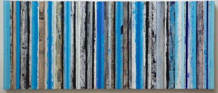 Strata, Blue & Black