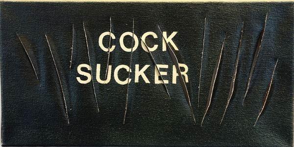 Betty Tompkins Cock Sucker, 2015