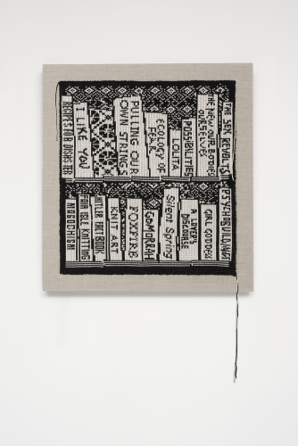 Lisa Anne Auerbach, Small Book Shelf: Feminism and Crime, 2014
