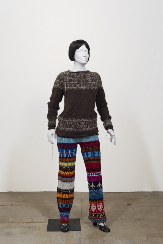 Lisa Anne Auerbach, Journal Pants, Black Sheep Sweater, 2014