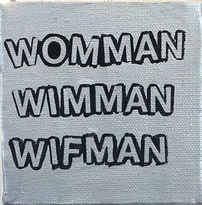 Betty Tompkins Womman..., 2015