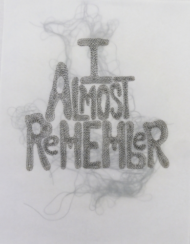 Rob Wynne, I Almost Remember, 2014
