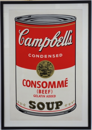 Andy Warhol Beef consommé, from Campbell's Soup Screenprint 1968