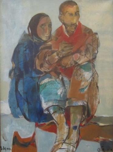 Ruth Schloss Family Oil on Canvas