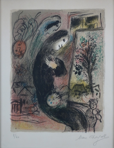 Marc Chagall Inspiration 1963 Lithograph