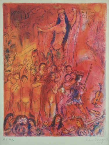 Marc Chagall They Were In Forty Pairs 1948 Lithograph