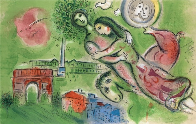 Marc Chagall Romeo and Juliet 1964 Lithograph