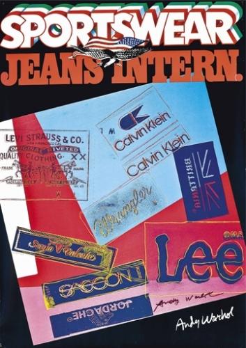 Andy Warhol Sportswear Jeans International 1982 Lithograph