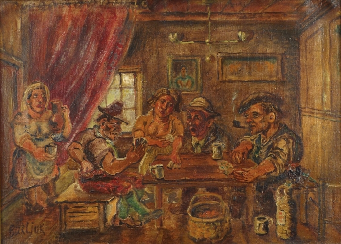 David Burliuk Artists Beloosesky Gallery - Who painted the card players