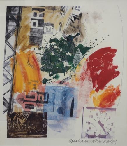 Robert Rauschenberg Lithograph ROCI Berlin 1984