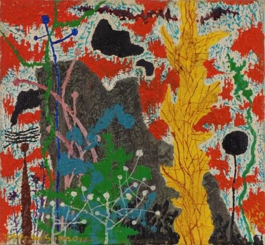 Yohanan Simon Fantastic Landscape Oil on Canvas 1963
