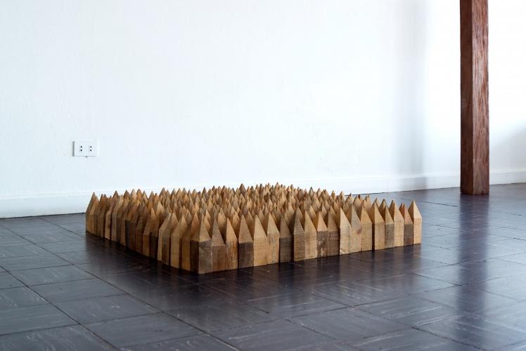 Dario Escobar, Floor, 2015, installation view