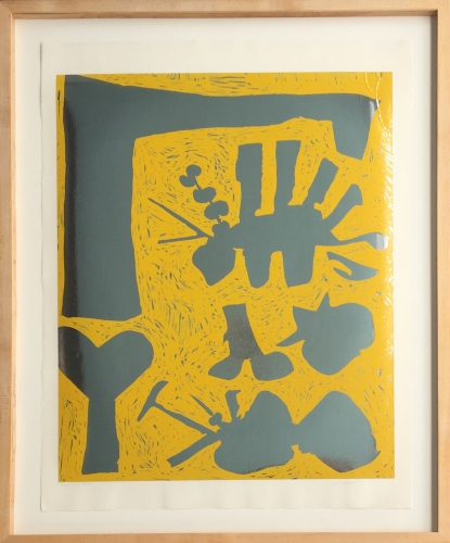 HUGH TOWNLEY  Untitled Color Lithograph, Paper Trial Proof 1969