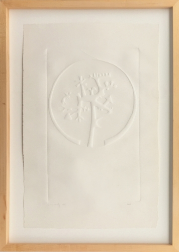 HUGH TOWNLEY  Untitled Embossed Relief, Proof 1965