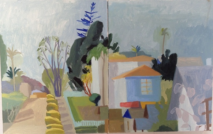 Celia Reisman Road I (Study) Golden Hill, San Diego dipytcht 2015