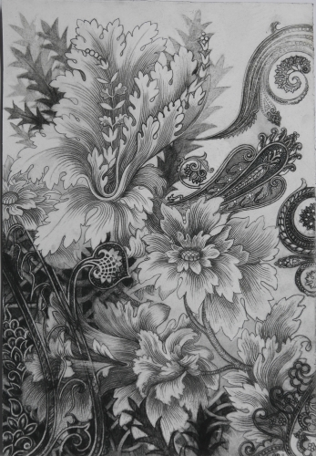 "Anda Dubinskis - Filigree, 2015  charcoal on arches  15"" x 11"""