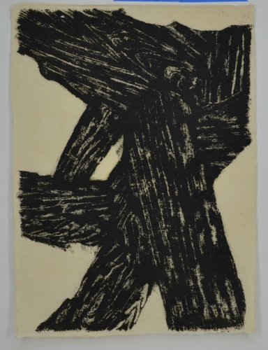 IRA MATTESON  Untitled Rubbing  Rubbing with oil stick, japanese paper, (LWGR-014)