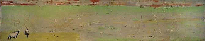 BERNARD CHAET  Two Cows 1966