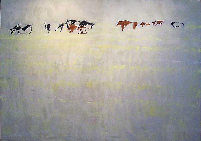 BERNARD CHAET  9 Cows 1995