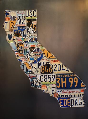 License plates in the shape of california license plate art of california 1995 solutioingenieria Choice Image