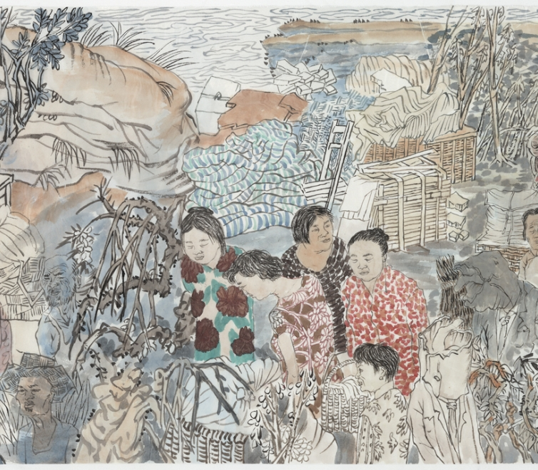 Yun-Fei Ji at the Honolulu Museum of Art