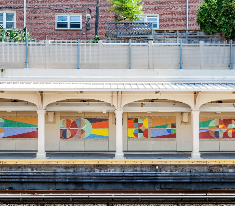 Eamon Ore-Giron at NYC Bay Parkway Station