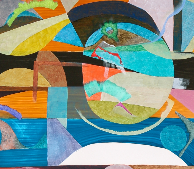 Colorful abstract composition by Scott Olson