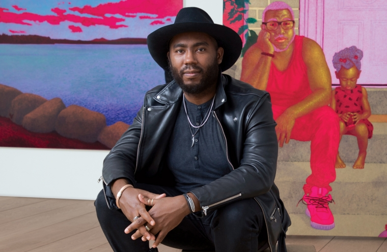 Lehmann Maupin's Exhibition of New Paintings by Arcmanoro Niles Becomes a Breakaway Hit