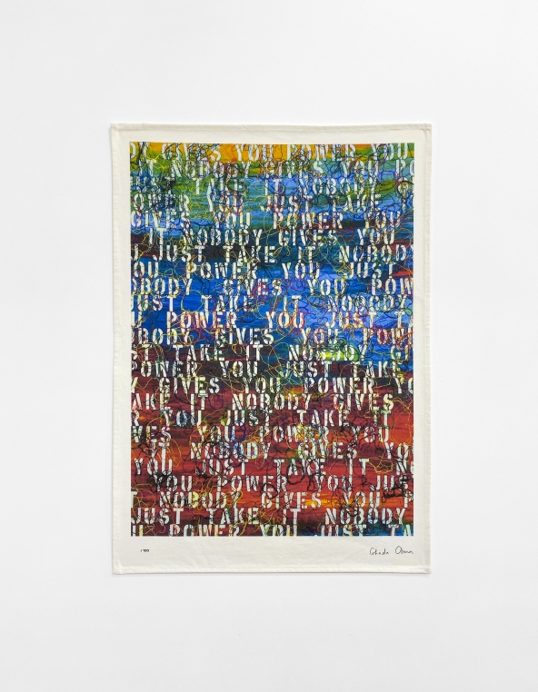 Ghada Amer, Untitled (based on Sunset with Words - RFGA, 2013), 2020