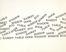 Basket, Table, Door, Window, Mirror, Rug