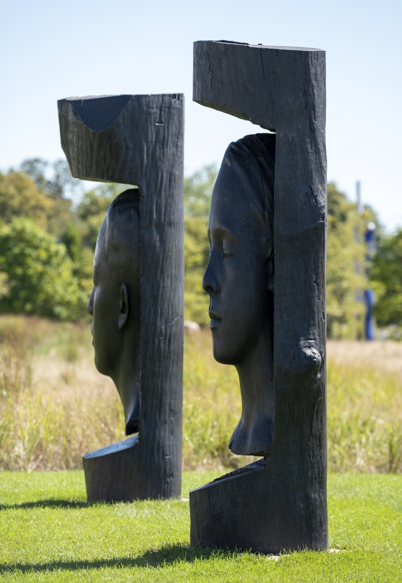Dine, Gates and Plensa in Parrish Art Museum's Sculpture Exhibition