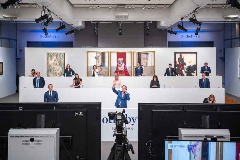 Led by a Sizzling Bacon, Sotheby's First-Ever Hybrid Contemporary Evening Sale Format Nets an Impressive $300.4 Million