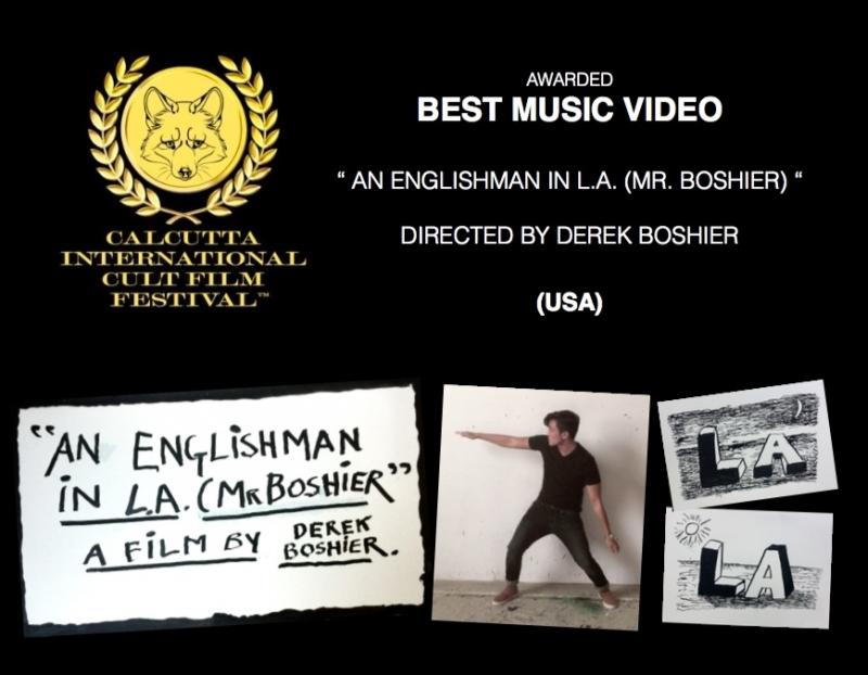 Derek Boshier Wins Best Music Video at Calcutta International Cult Film Festival