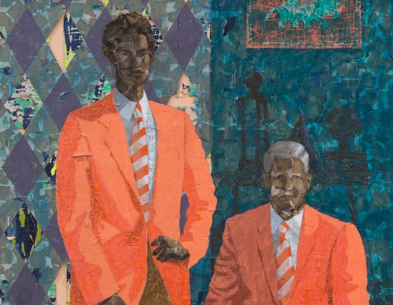 "Derek Fordjour's ""Signing Day"" Acquired by the Nasher Museum of Art"