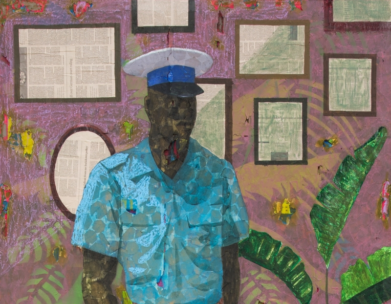 """Derek Fordjour's  """"Worst to be First III"""" Acquired by the Museum of Contemporary Art Chicago"""