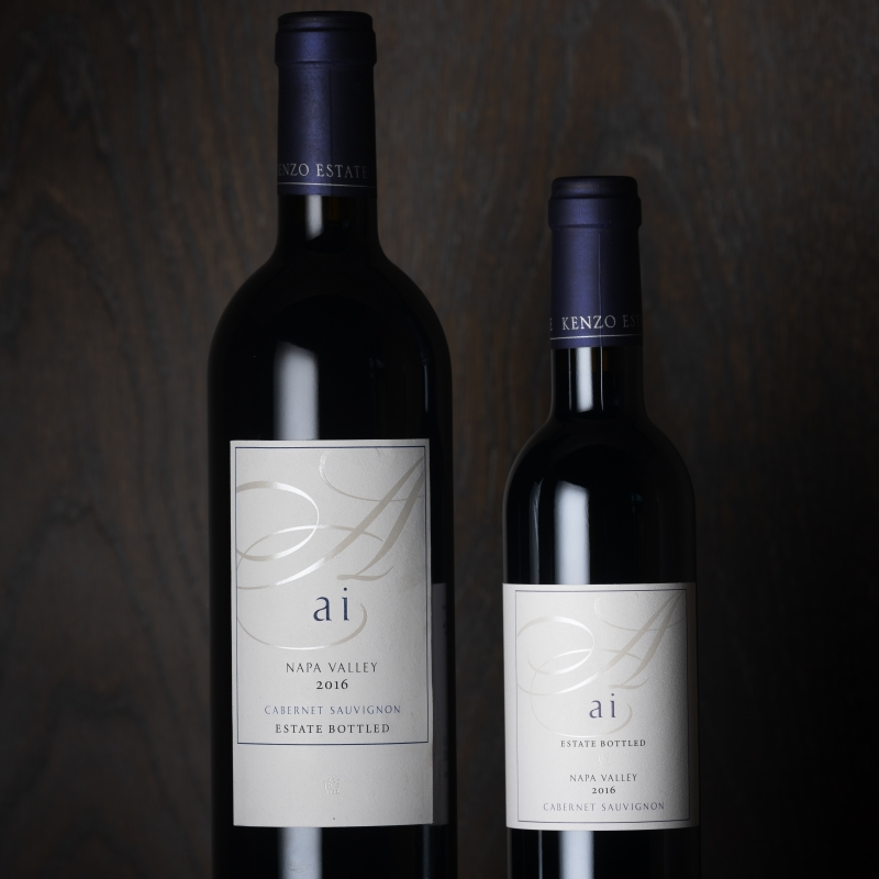 ai full and half bottles red wine