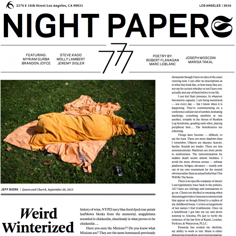 Night Papers VII