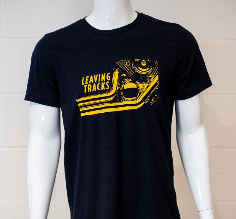 LEAVING TRACKS Black Logo Shirt