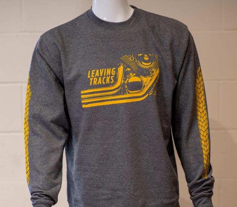 LEAVING TRACKS Gray Sweatshirt