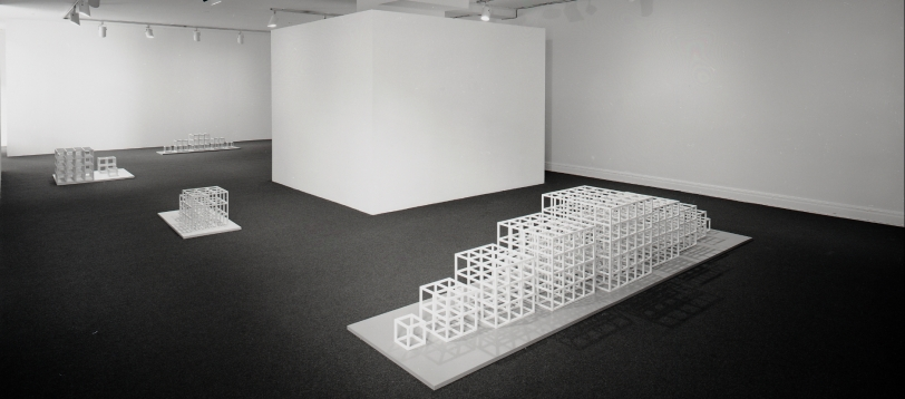 Installation view at Rhona Hoffman Gallery, Sol LeWitt, New Structures and Photogrids, 1979