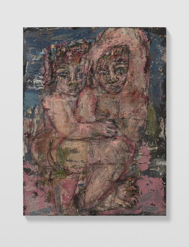 Daniel Crews-Chubb Couples 6 (petrol blue, pink and military green), 2021