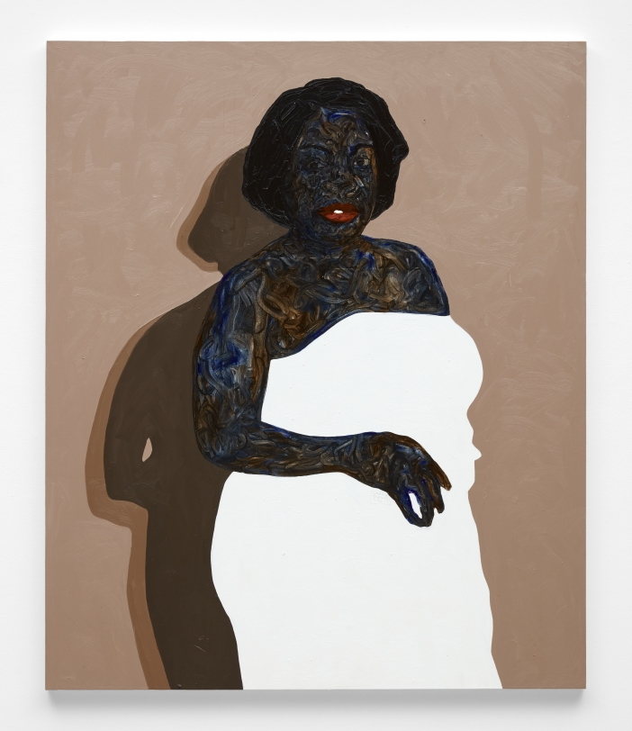 Amoako Boafo, White Off Shoulder Dress, 2021