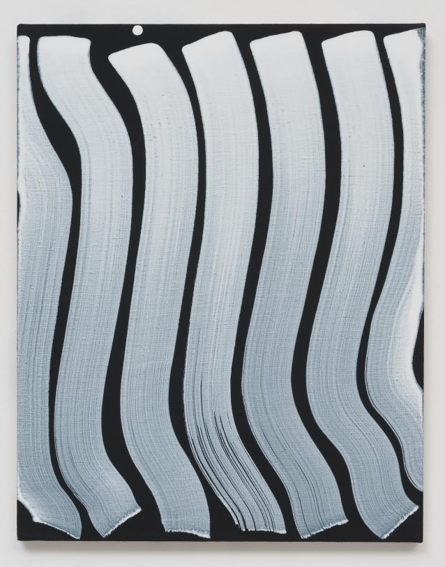 Michael Dopp Untitled (Strokes, White on Black), 2013