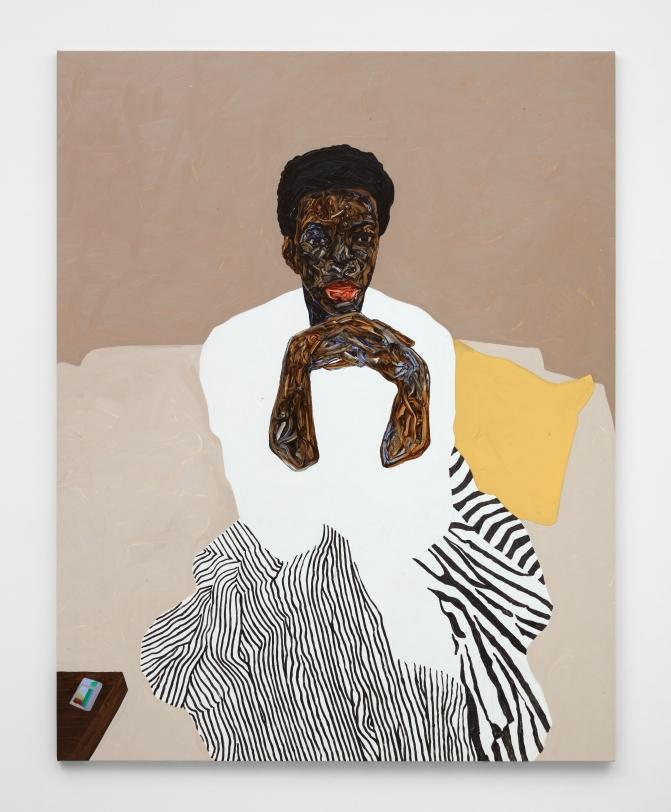 Amoako Boafo, Yellow Throw Pillow, 2021