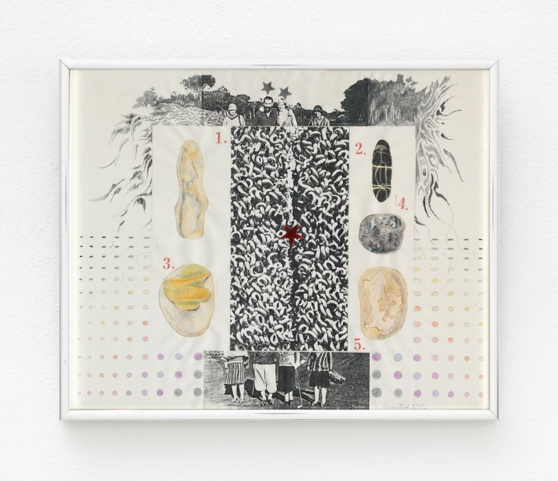 Rachel Rosenthal, 5 Decades, 1975, Mixed Media collage, 11.75 x 14.25 in
