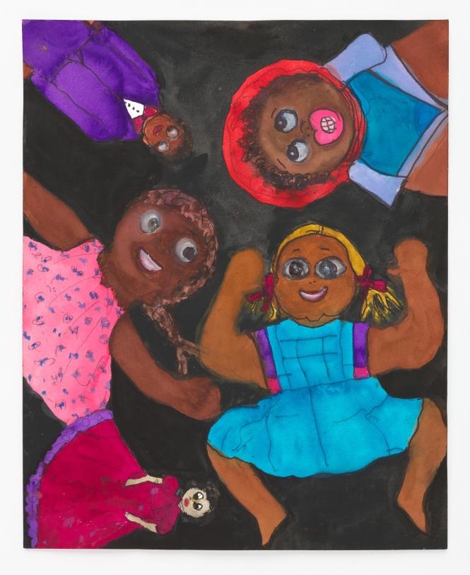 Betye Saar 5 Black Dolls, 2021