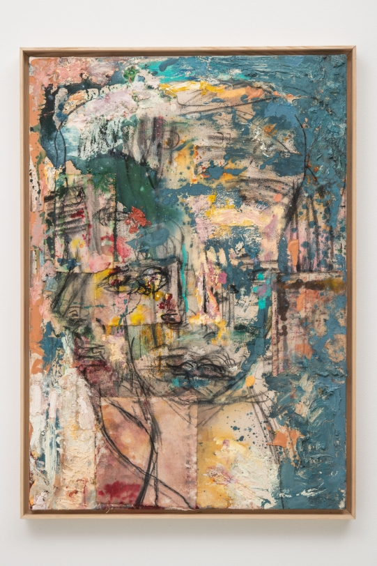Daniel Crews-Chubb,  Mask (Alta Ego), 2020, Oil and mixed media on canvas, 40.94 x 29.13 in