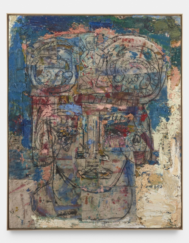 Heads with Serpents and Drummer (blue), 2020