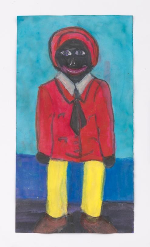 Betye Saar, Male Doll with Yellow Legs, 2020