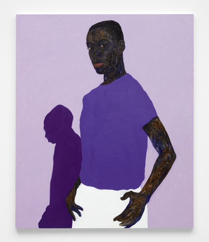 Amoako Boafo, Purple Shadow, 2021